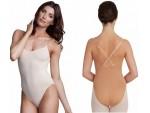 Nude Bodysuit w/ Clear Straps